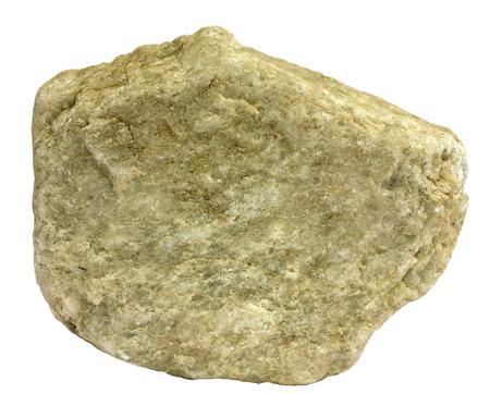 quartzite: Single piece of greenish tinted metamorphic quartzite