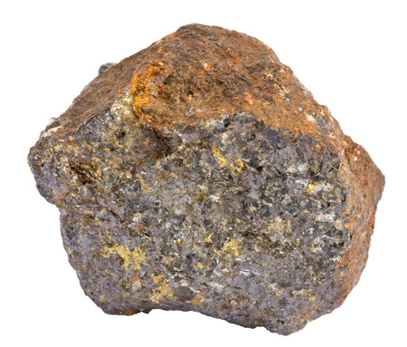 sphalerite: Sample of galena ore, also containing chalcopyrite and sphalerite Stock Photo
