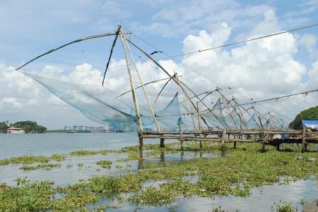 kerala backwaters: Chinese Fishing Net,Backwaters,Kerala,India