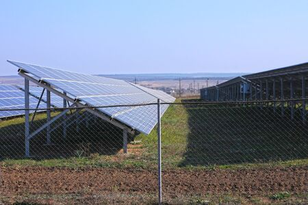 Solar panel plant. Sun energy is green innovation and clean for environmental. The latest environmental development that people support in many countries.