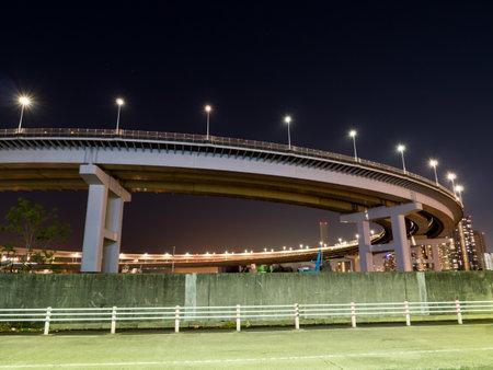 magic hour: Rainbow Bridge in Japan