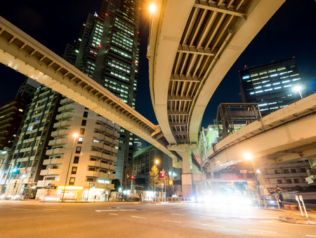 confluence: Junction in Japan Night view
