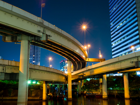 Junction in Japan Night view