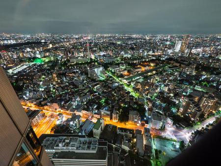 日本観測室夜景 写真素材