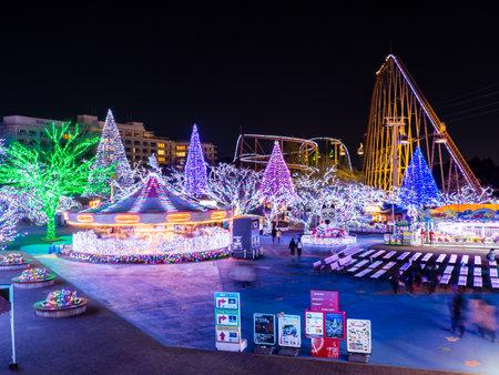 Amusement park in Japan Night view