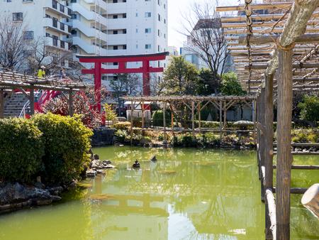 shinto: Japan Kameido Tenjin Stock Photo