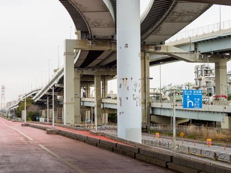 Bridge in Japan Imagens