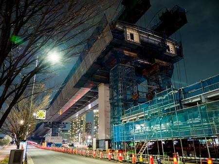Bau der Autobahn Standard-Bild
