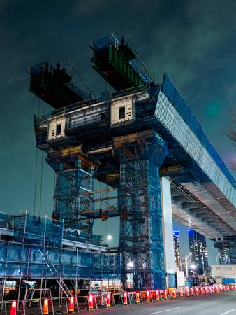 高速道路の建設 写真素材