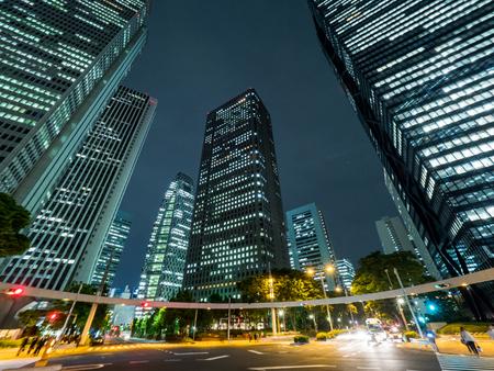 Japan shinjuku Night view Reklamní fotografie