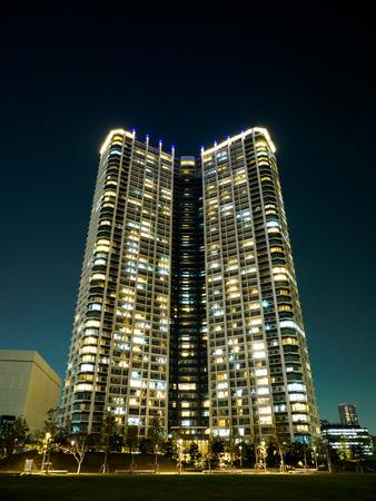 public housing: Japan Night view