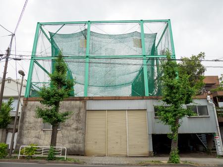 日本のゴルフ練習場 写真素材