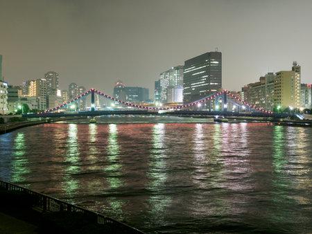 Bridge night view in Japan