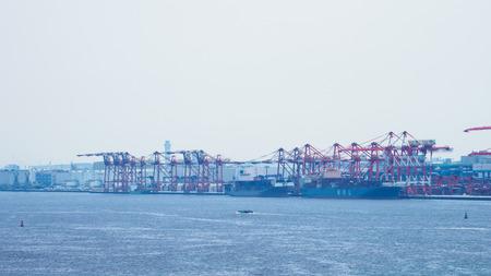 Harbor in Japan Tokyo