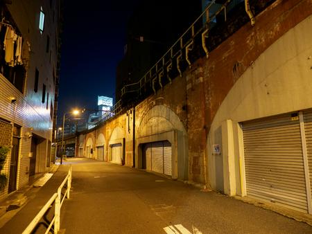 Underpass Night view Stock Photo