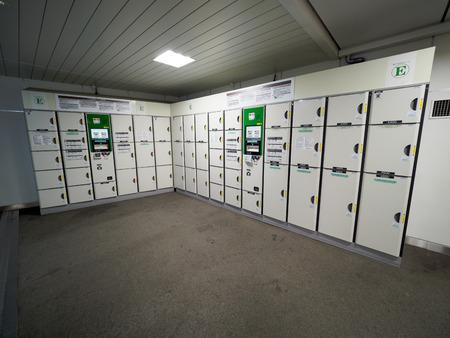 Coin locker Stock Photo