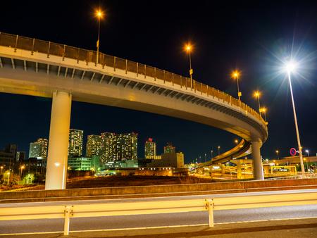 Junction in Japan Night view