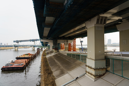 Construction of highway Stock Photo