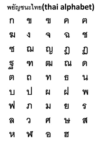 thai alphabet Zdjęcie Seryjne - 48054999