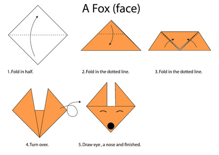 piece of paper: Fold a piece of paper