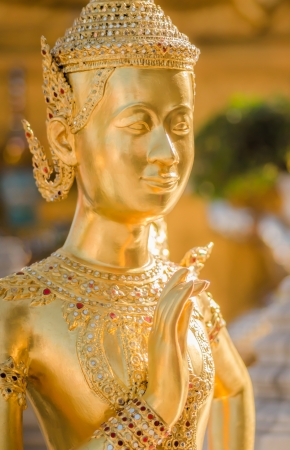 golden statue at Wat Pra Keaw Stock Photo - 17568309