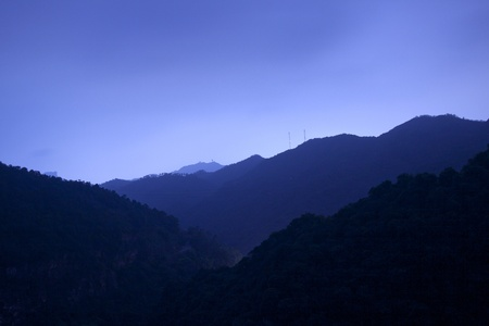 Mountains at night Stock Photo - 11300059
