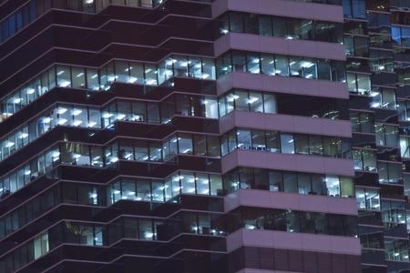 Office windows at night photo