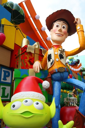 HONG KONG - 13 NOV, Toy Story Christmas decorations release in Harbour city, Hong Kong on 13 November, 2011. It is one of the biggest Christmas display in Hong Kong every year and attract many tourists.