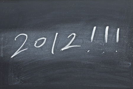 festiveness: 2012 on black board Stock Photo