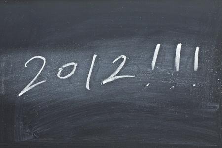 2012 on black board photo