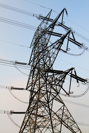 Power transmission tower with cables  Stock Photo - 11486669