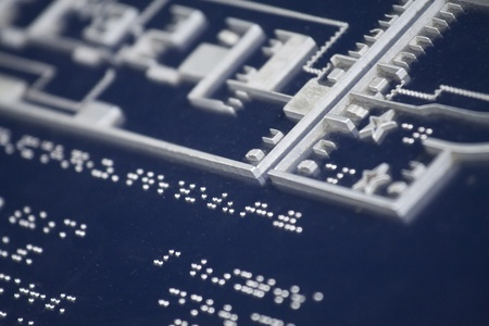 Braille for blind people photo