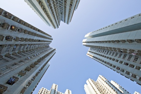 Hong Kong apartment blocks at day Stock Photo - 11701068