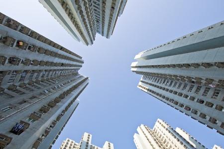 Hong Kong apartment blocks at day Stock Photo - 11701068