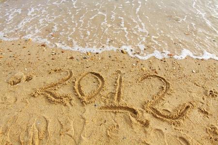 2012 handwritting on sand photo