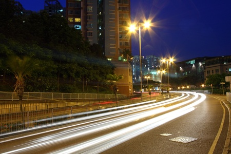 Traffic in city at night Stock Photo - 11701056