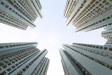 Hong Kong apartment blocks Imagens