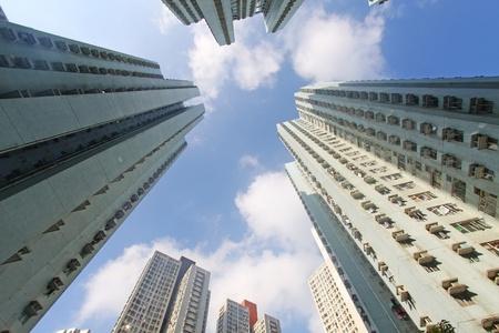 Hong Kong crowded buildings photo