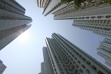 Hong Kong apartment blocks photo