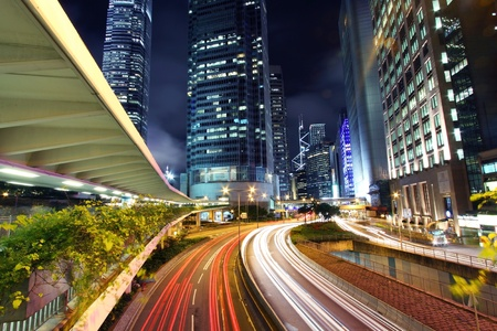 Traffic in city at night Stock Photo - 11701008