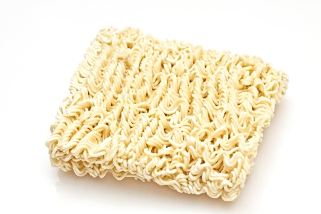 Instant noodles isolated on white background photo