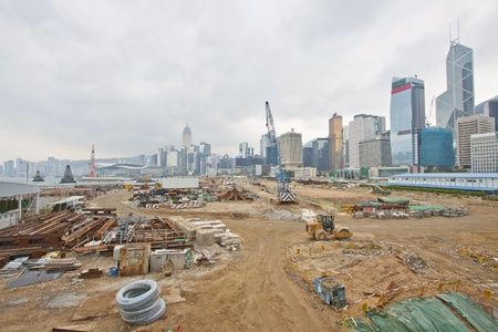 Construction site for new highway in Hong Kong photo