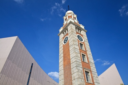 Clock tower in Hong Kong, it is one of the landmark in Tsim Sha Tsui. photo