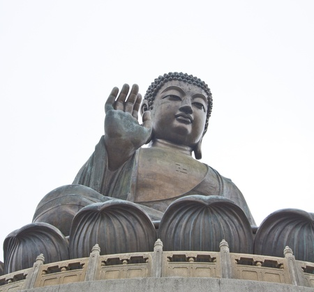 The Big Buddha in Hong Kong Lantau Island Stock Photo - 11834728
