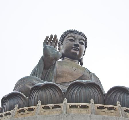 The Big Buddha in Hong Kong Lantau Island Stock Photo - 11834728