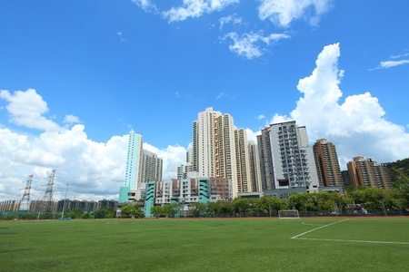 Tuen Mun downtown in Hong Kong photo