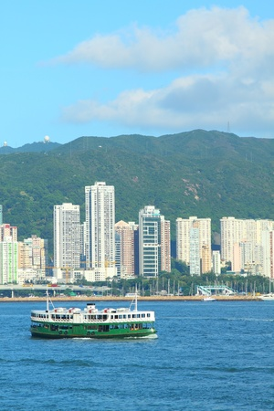 Star Ferry in Hong Kong. It is one of the oldest transportation in Hong Kong for more than 120 years.  photo