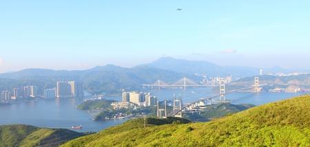 Three famous bridges in Hong Kong at day photo