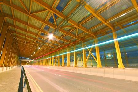 Tunnel in Hong Kong at night photo