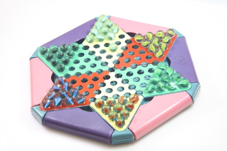 Chinese checkers game photo